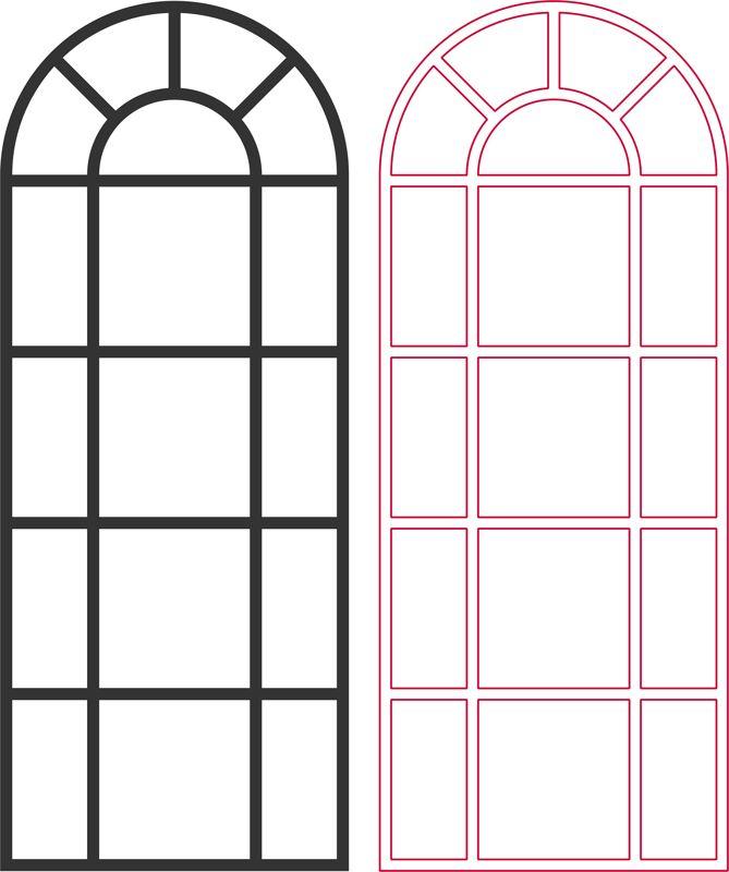 Laser Cut Window Grille Patterns Free DXF File