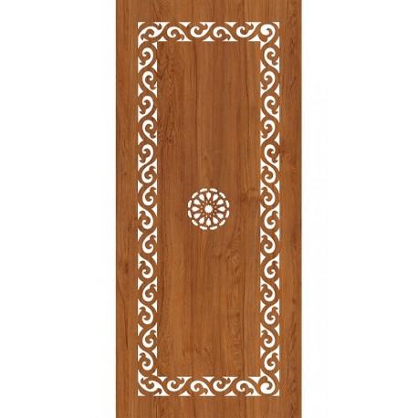 Laser Cut Wood Door Panel Design Free DXF File