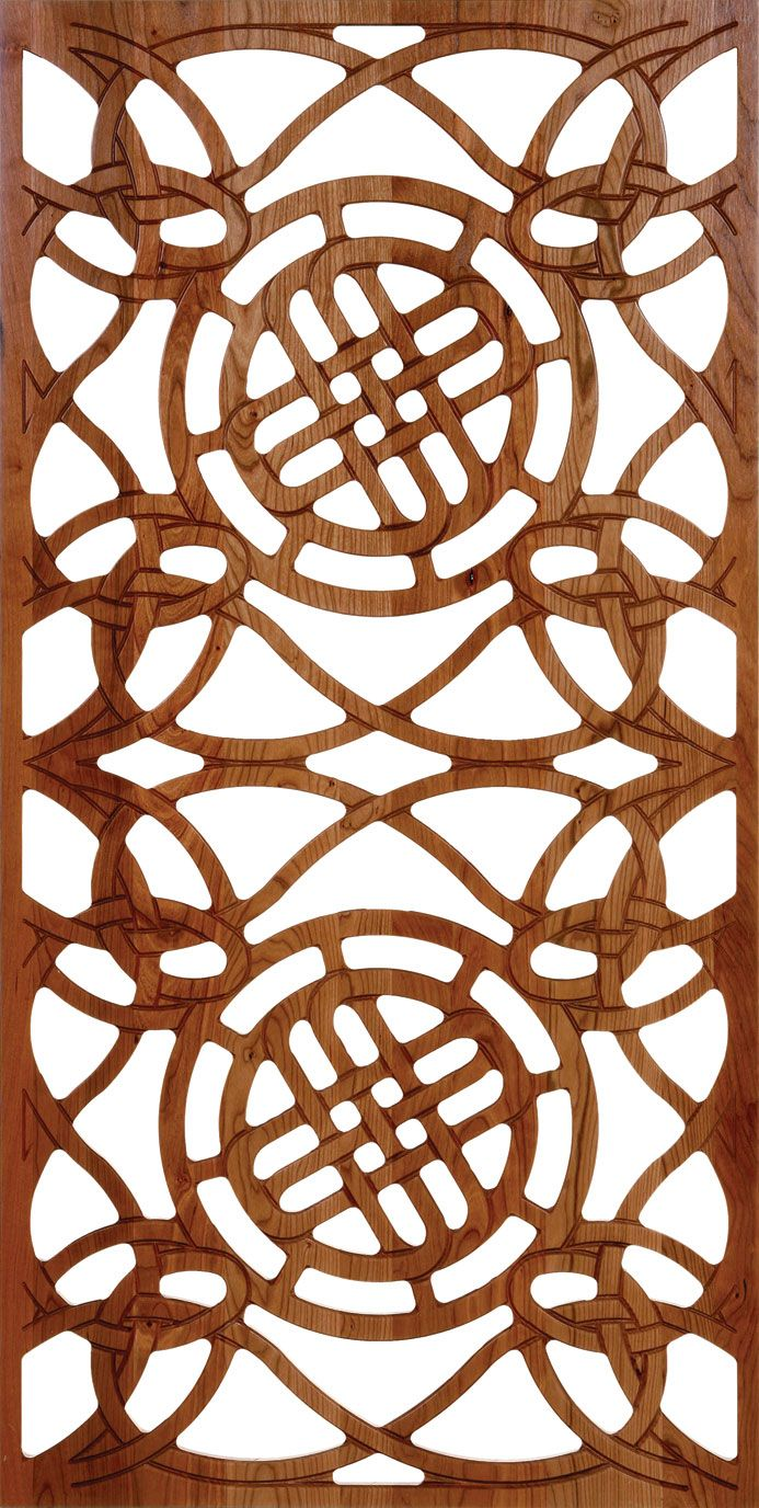 Laser Cut Wood Partition Wall Pattern Free DXF File