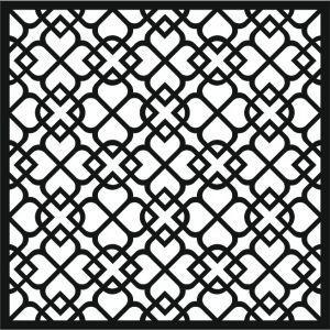 Laser Cut Wrought Iron Pattern Free DXF File