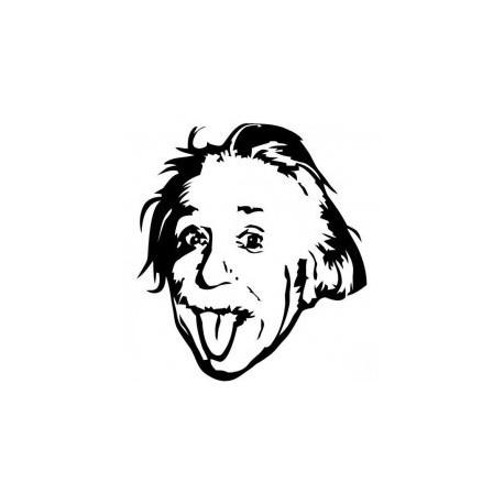 Albert Einstein Genius Meme Stencil Free DXF File