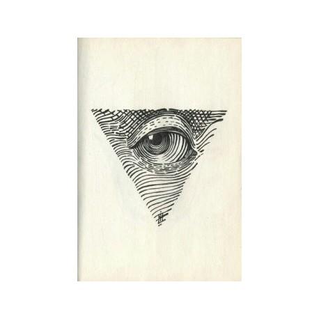 All Seeing Eye Dotwork Tattoo Free DXF File