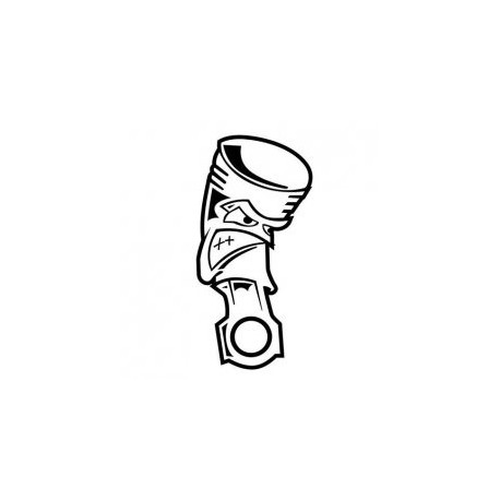 Angry Piston Jdm Car Vinyl Sticker Decal Free DXF File