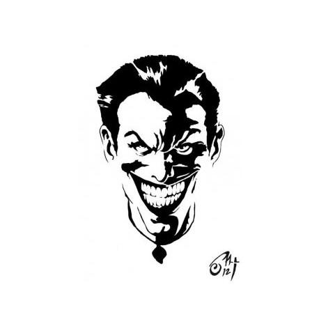 Black And White Joker Stencil Free DXF File