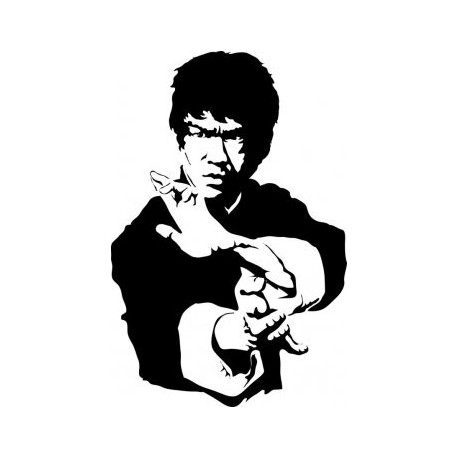 Bruce Lee Black And White Free DXF File
