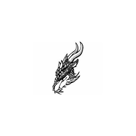 cabeça De dragão Free DXF File