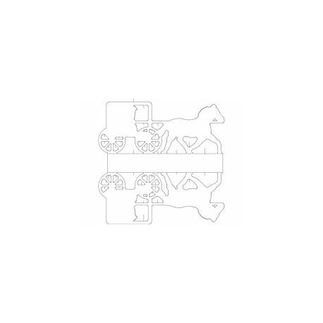 Cavalo E Carruagem Free DXF File