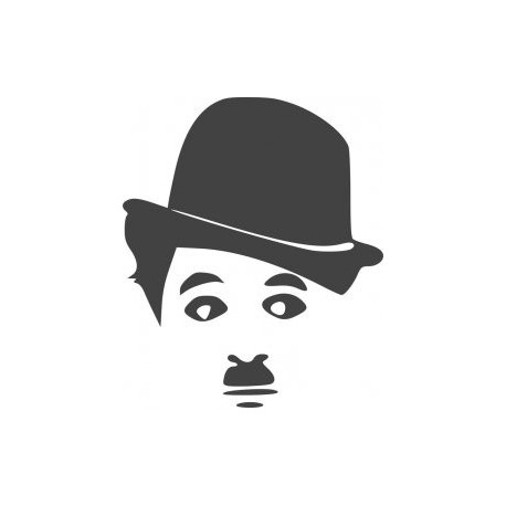 Charlie Chaplin Silhouette Vinyl Sticker Free DXF File