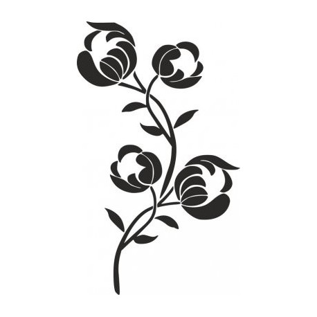 Flower Stencil Silhouette Carving Pattern Free DXF File