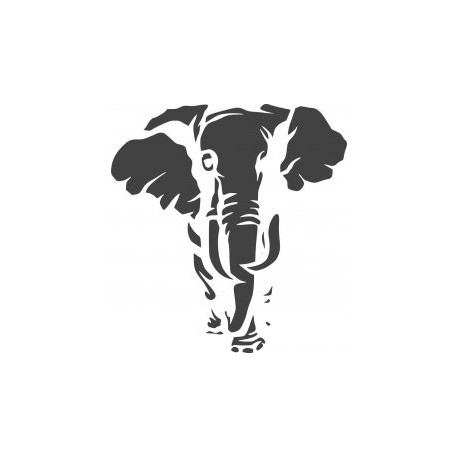 Jungle Animal Elephant Stencil Free DXF File