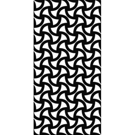 Monochrome Seamless Curved Shape Pattern Free DXF File