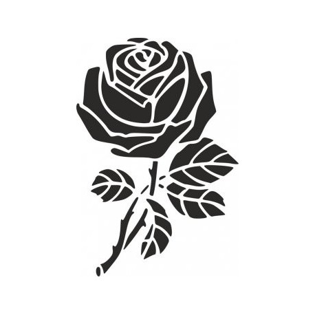 Rose Stencil Free DXF File