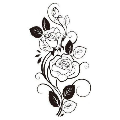 Rose Vine Drawing Free DXF File