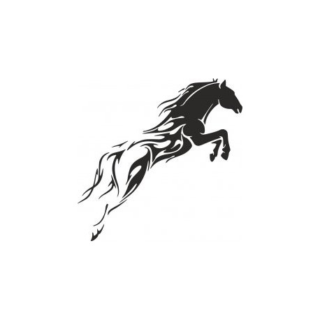 Tribal Horse Unique Tattoo For Men Free DXF File