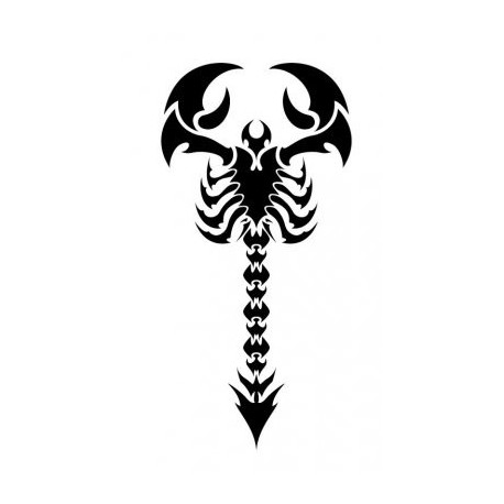 Tribal Scorpion Tattoo Design Free DXF File