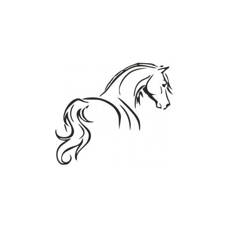 Tribal Tattoo Horse Outline Stencil Free DXF File