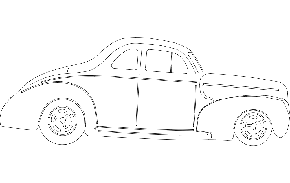 40 Ford Coupe Car Free DXF File