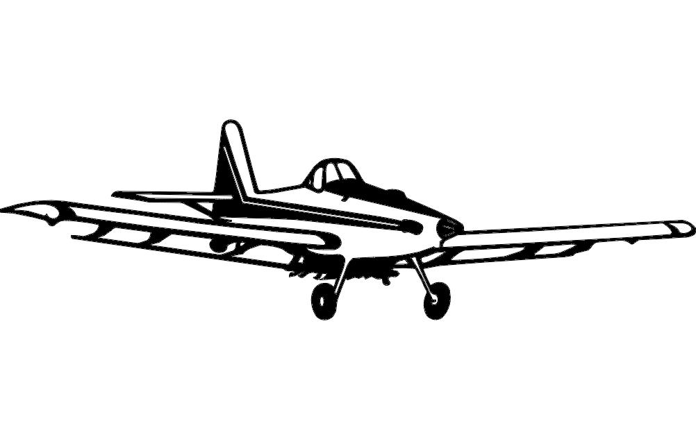 Airplane Free DXF File