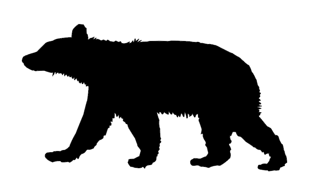 Animal Bear Silhouette Free DXF File