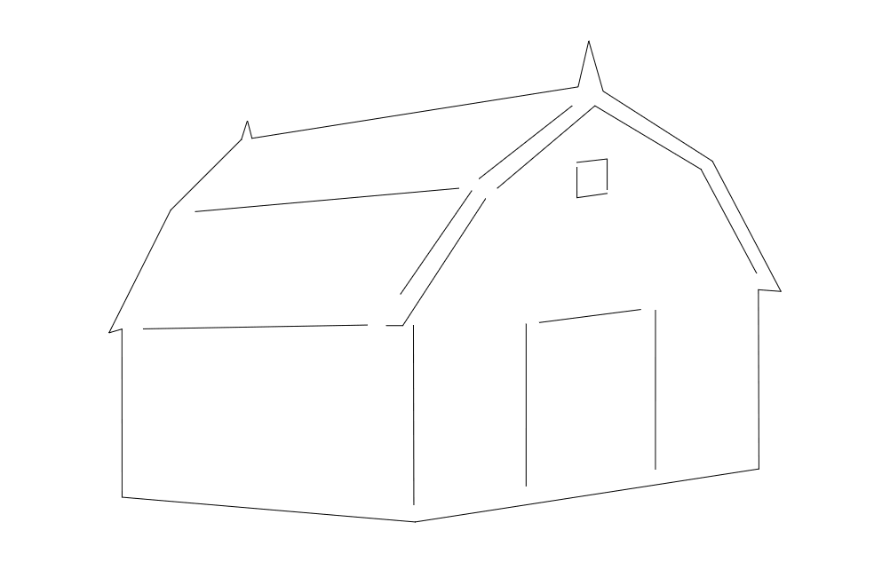 Barn House Free DXF File