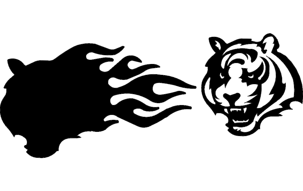 Bengal With Flames 3D Free DXF File
