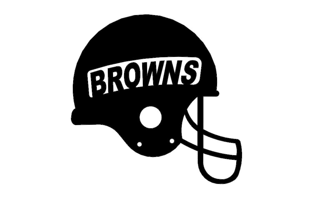 Browns Helmet Free DXF File