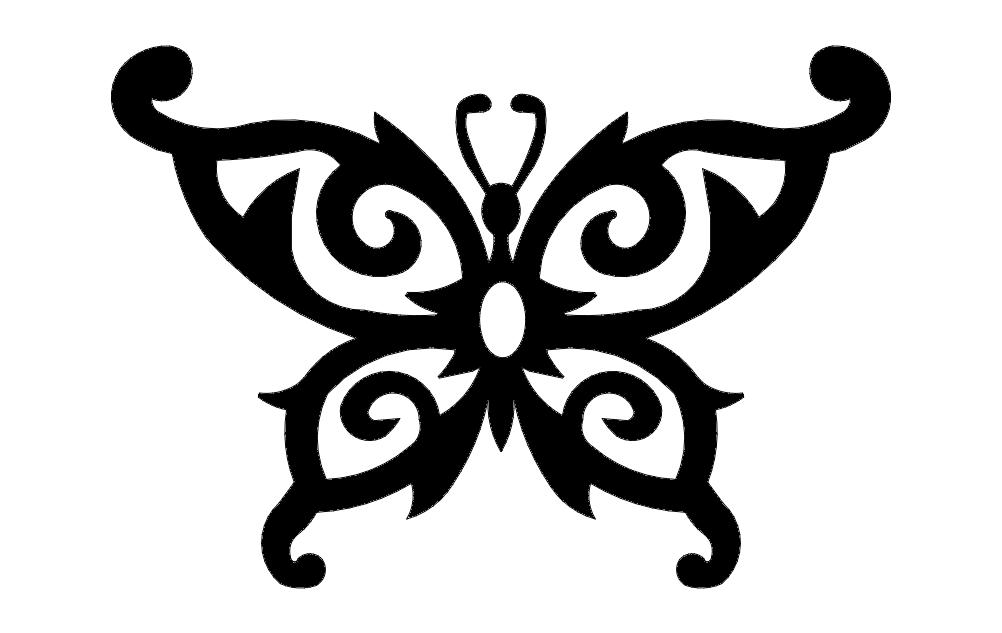 Butterfly Design Art 55 Free DXF File