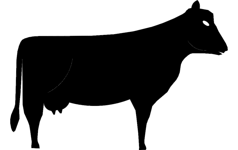 Cow Silhouette 44 Free DXF File