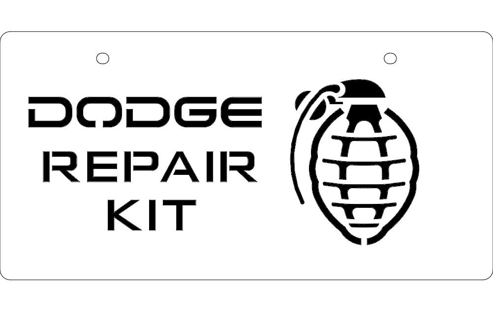 Dodge Repair Kit Free DXF File