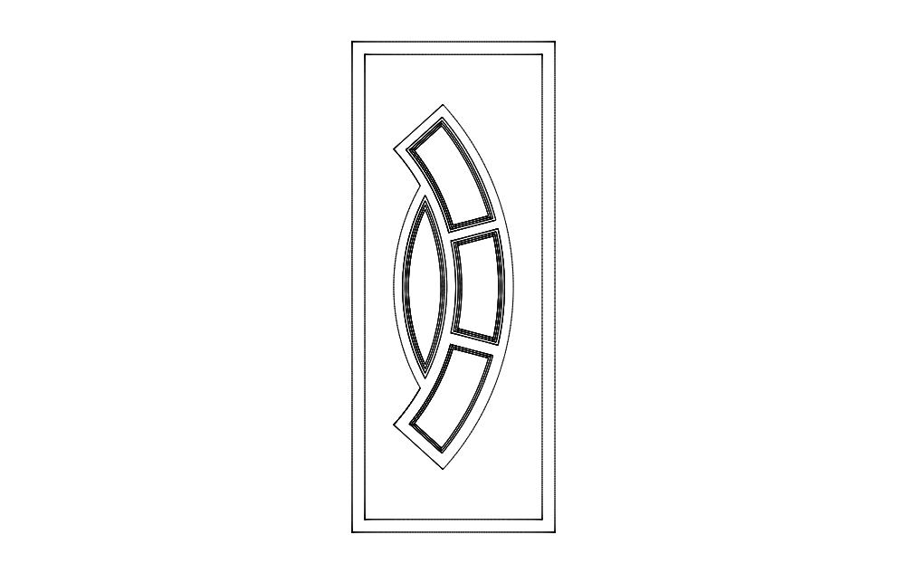 Door Art Design Free DXF File