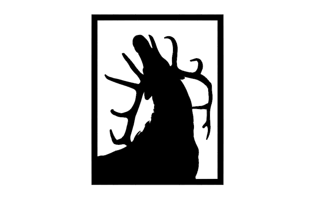 Elk Call Silhouette Free DXF File