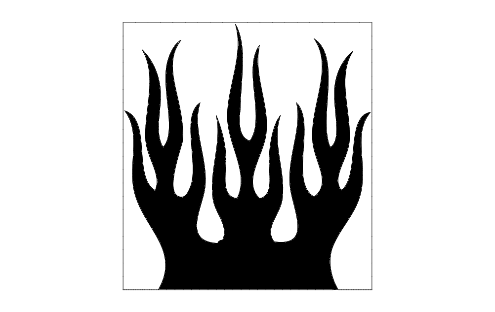 Flames Silhouette Free DXF File