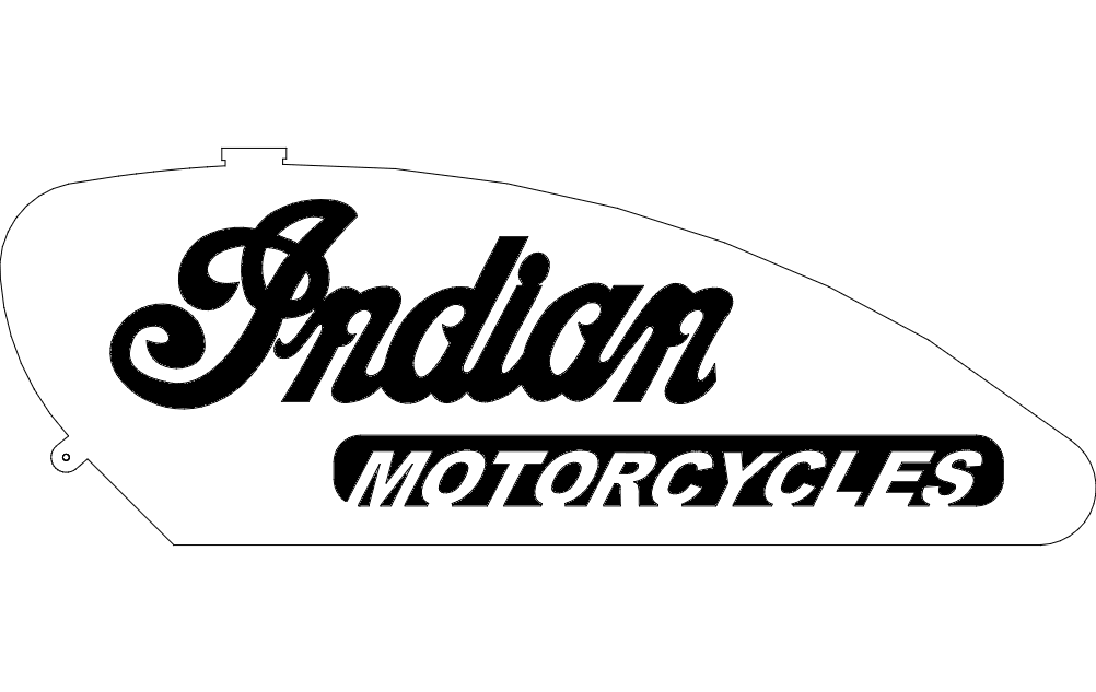 Indian Motorcycle Gas Tank Free DXF File