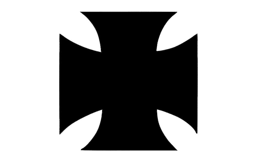Iron Cross Image Free DXF File