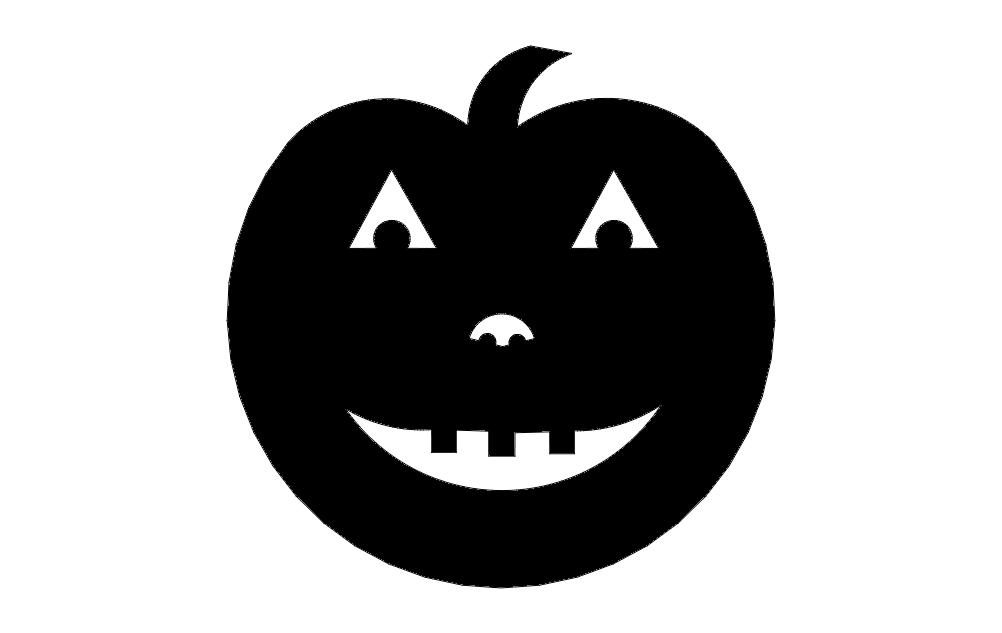 Jacolant Smiling Pumpkin Free DXF File