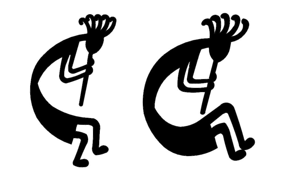 Kokopelli Pair Free DXF File