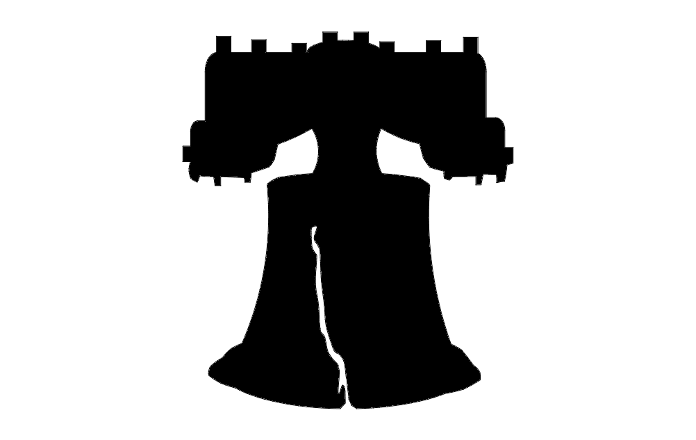 Liberty Bell Silhouette Free DXF File