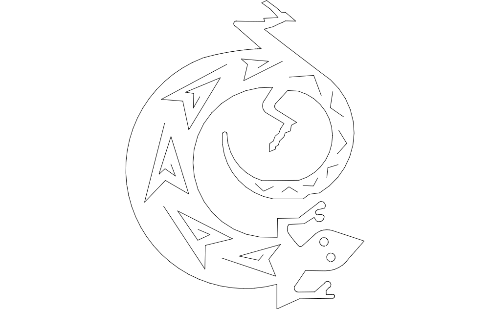 Lizard Image Free DXF File
