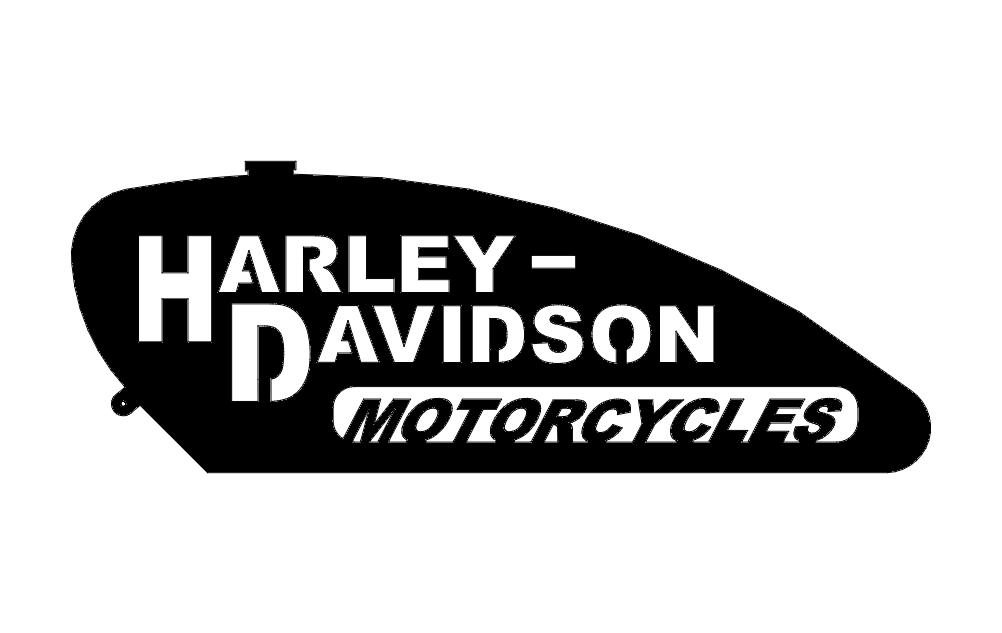 Logo Harley Gas Tank Free DXF File