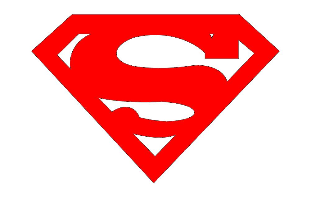 Logo Superman Free DXF File