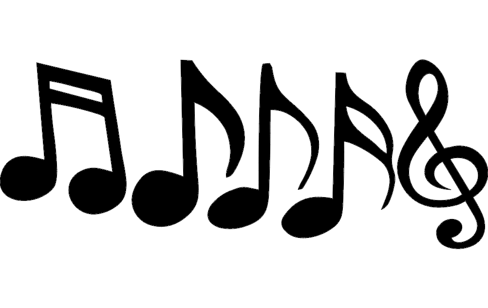 Music Notes Sign Free DXF File