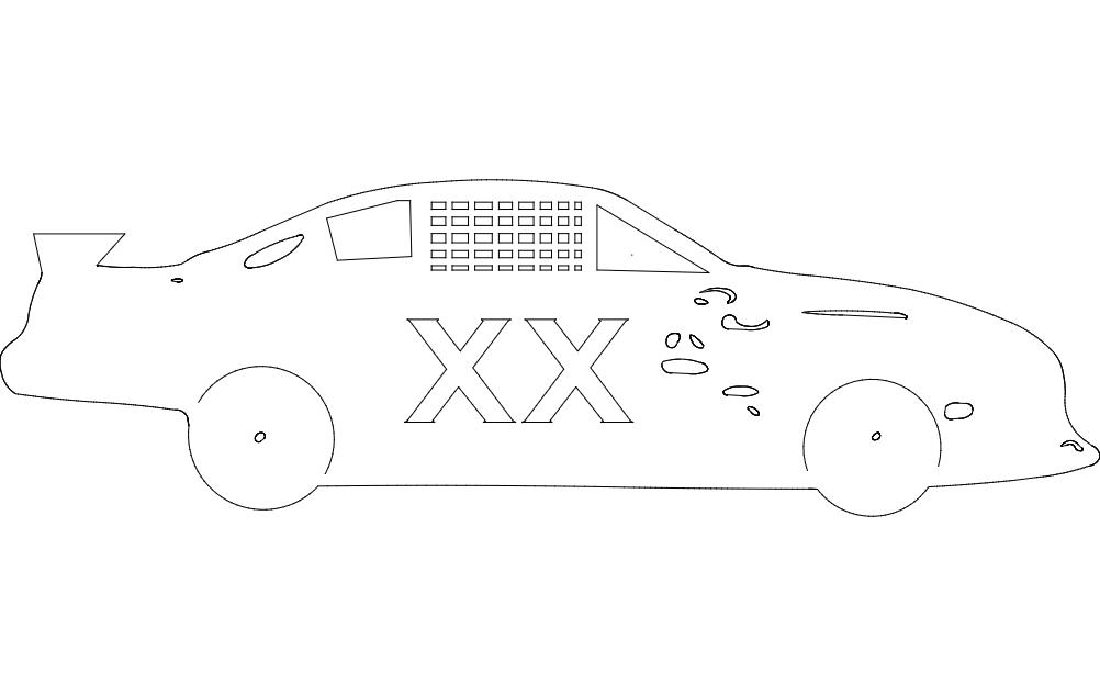 Nascar Vehicle Free DXF File