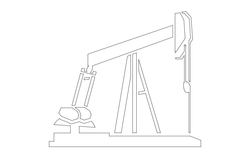 Pump Jack Art Free DXF File
