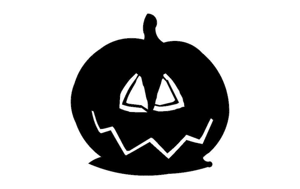 Pumpkin Triangle Eyes Free DXF File