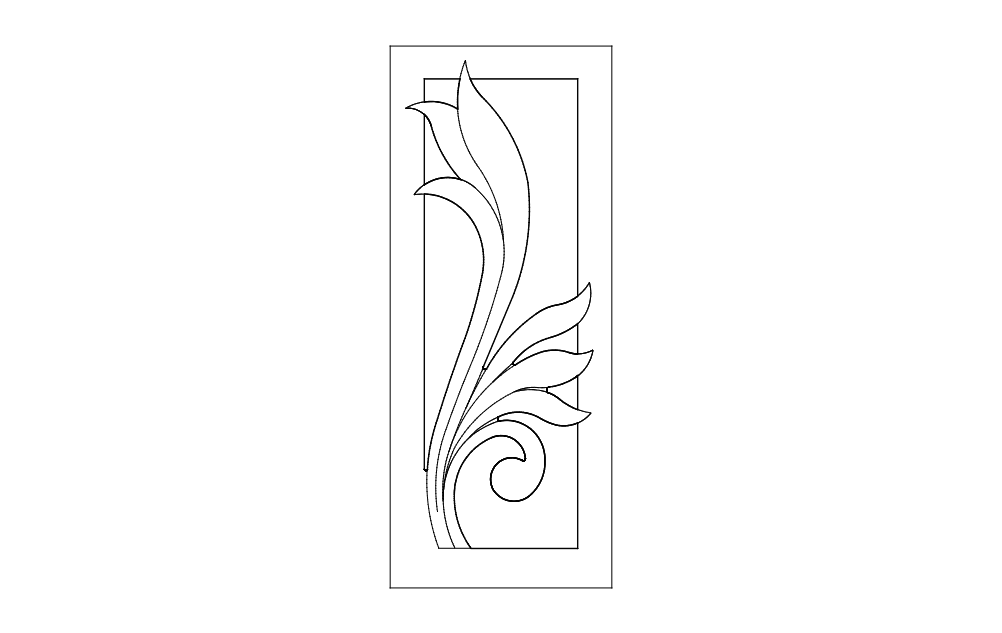Separator Design Flower Art Free DXF File