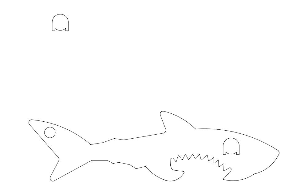 Shark Fish Image Free DXF File