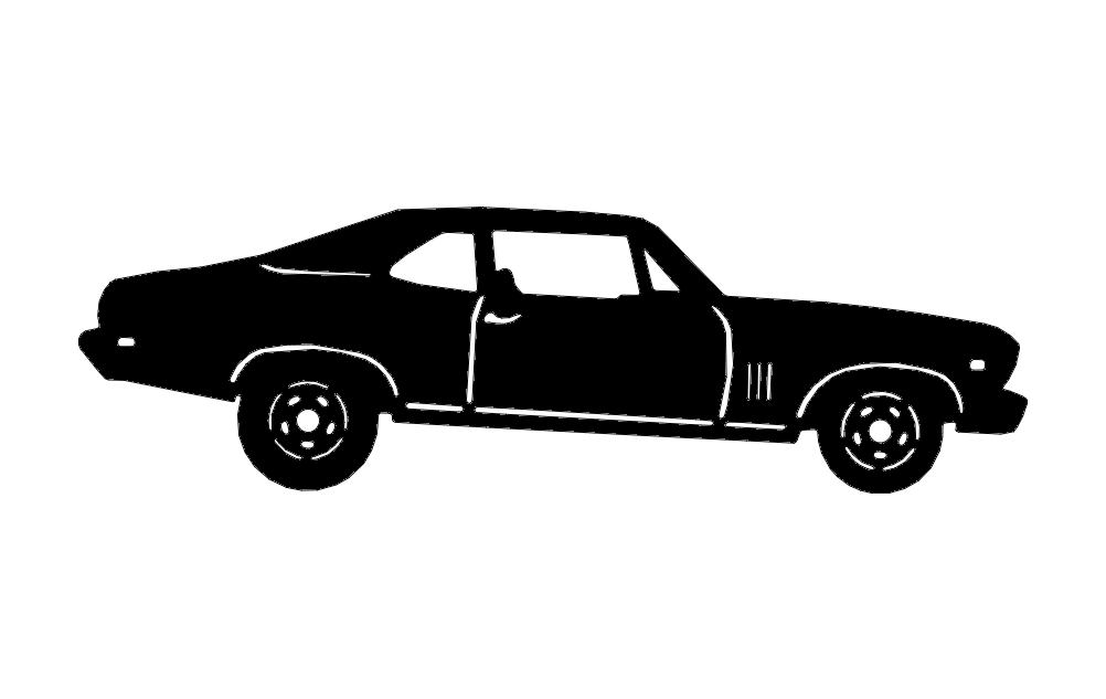 Silhouette Car Free DXF File