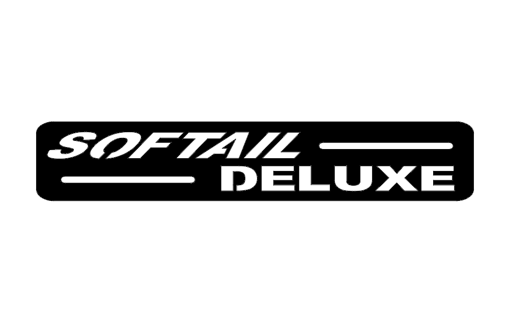 Softail Deluxe Sign Free DXF File