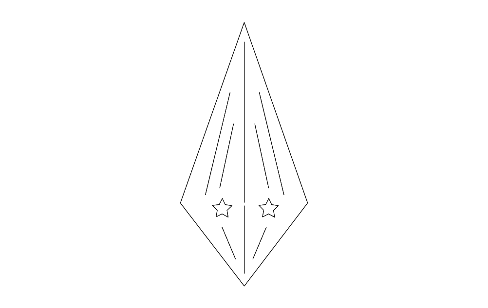 Star Design Correct Geometry Free DXF File