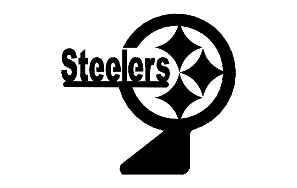 Steelers Logo Stand Free DXF File